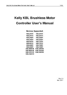 凯利kbl无刷电机控制器 products offered by kelly