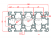 промышленный светлый алюминиевый профиль 90x180