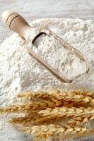 밀가루, 알몬드 가루, 옥수수 가루. 고품질 밀가루.