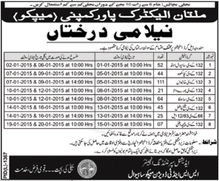 Auction Notice - Multan Electric Power Company