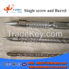 Plastic injection moulding machine screw barrel and tips