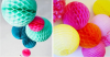 Handmade Birthday Party Favors Tissue Paper Honey comb Flower Balls for Decorations