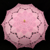 High End 100% Hand Made Lace Sun Umbrella For Weddings Pink Color
