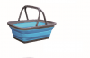square collapsible portable camping bucket with handle