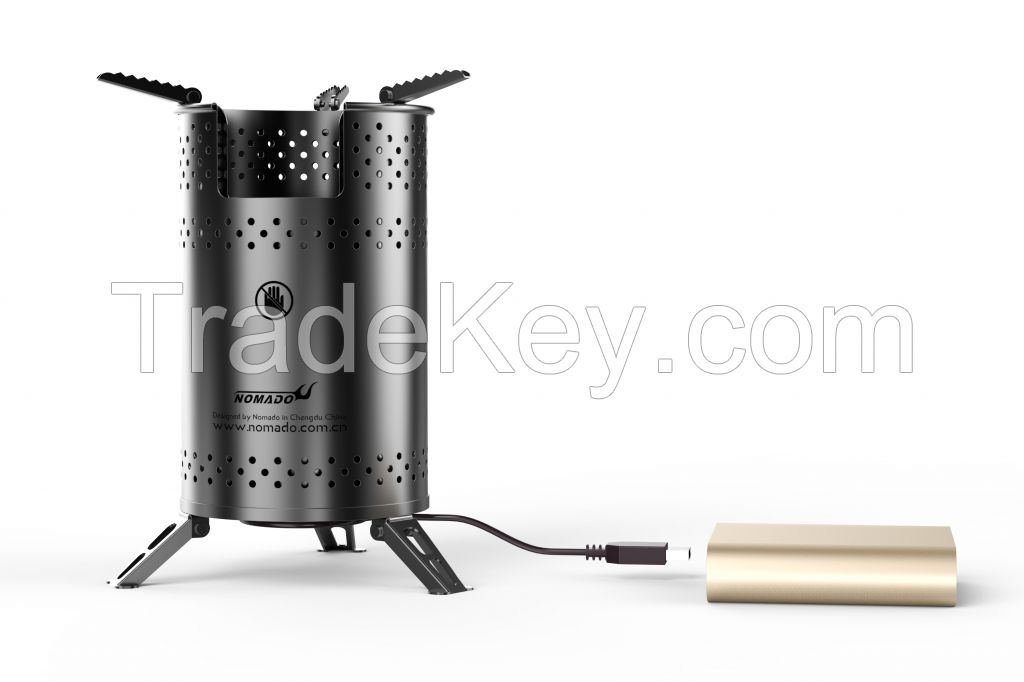 supplying the usb fanned blower biomass camping stove