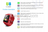 2015 New Bluetooth Smartwatches U8 Smart watch for IOS and Andriod Mobile Phone with bluetooth Wristwatch