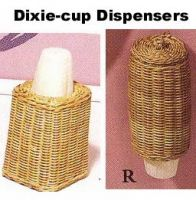 2676 pieces Dixie cup dispensers-wickerware n more