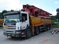 Sell used truck mounted concrete pumps 48M - KCP48ZX200-A TECH