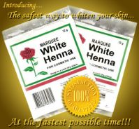 Marquee White Henna Skin Bleaching