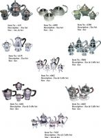SELL BRASS SILVER PLATED TEA / COFFEE SETS-JAMAL ENTERPRISES