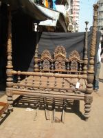 Antique Furniture Anglo Indian 4 Post Fully Carved Bed .