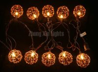 Decorative Lighting String with Beaded Copper Wire Ball By Huizhou Zhongxin Lighting Co., Ltd, China