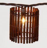 Bamboo Lantern String Lights : Decorative Light String with Cylinder Bamboo Lantern By Huizhou Zhongxin Lighting Co., Ltd, China