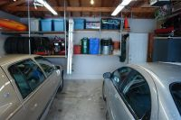 Mezzanine put your car and your mess in the garage this Garage storage mezzanine