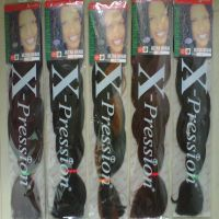 Sell X-pression braids Body wave kanekalon hair extension color1#-Yiwu