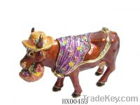 Sell Fashion Cow Enamel Trinket Box-DongYang Hui Xin Crafts Factory