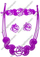 Fashion jewlry necklace bracelet earrings Tatoos bandz silicone-Enlong international Industry Limited