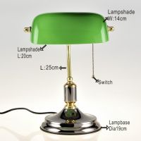 Sell Green Glass Bank Desk Lamp By Zhongshan Donglian Lighting Co ...