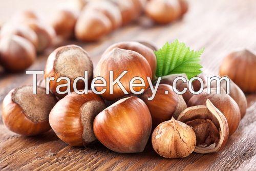 Nuts: Walnut kernel, hazelnut inshell and without shell