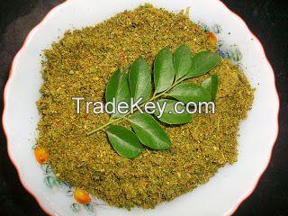 Cinnamon powder, Black peper powder, Cardamom powder, Cloves powder, Curry leaves
