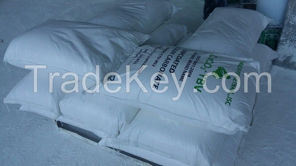 + 98% Ground Calcium Carbonate Caco3 powder with Vietnam manufacturer for PVC, plastic, paper, rubber industry