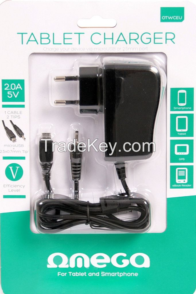 OMEGA TABLET CHARGER 2.0A 5V BLISTER