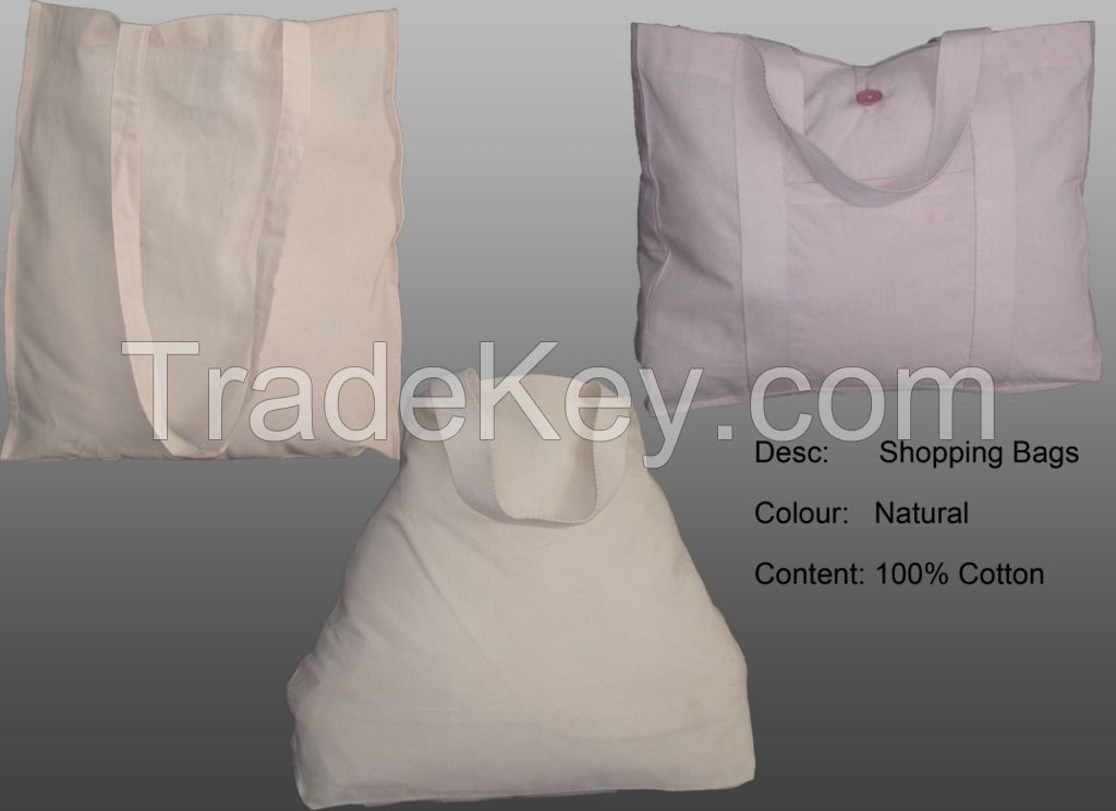 100% Natural Cotton Shopping Shoulder Bags and Tote