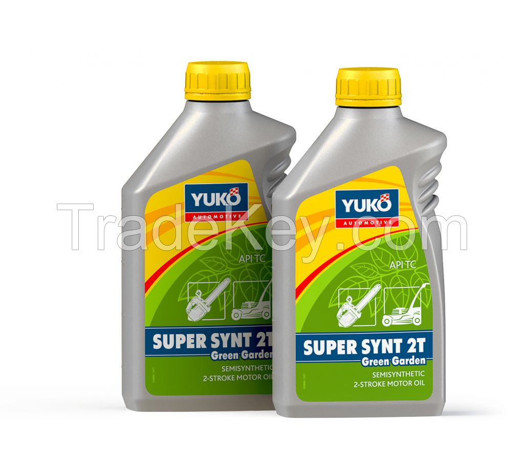 YUKO SUPER SYNT 2T Green Garden, semi-synthetic motor oil for two-stroke engines