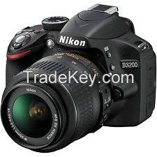 Used Nikon D3200 24.2 MP Digital SLR Camera - Black - AF-S DX 18-55mm