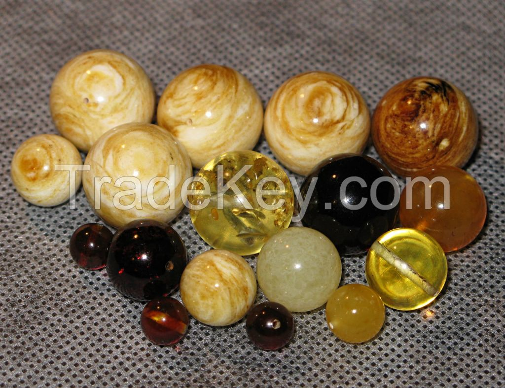 rough amber and amber beads