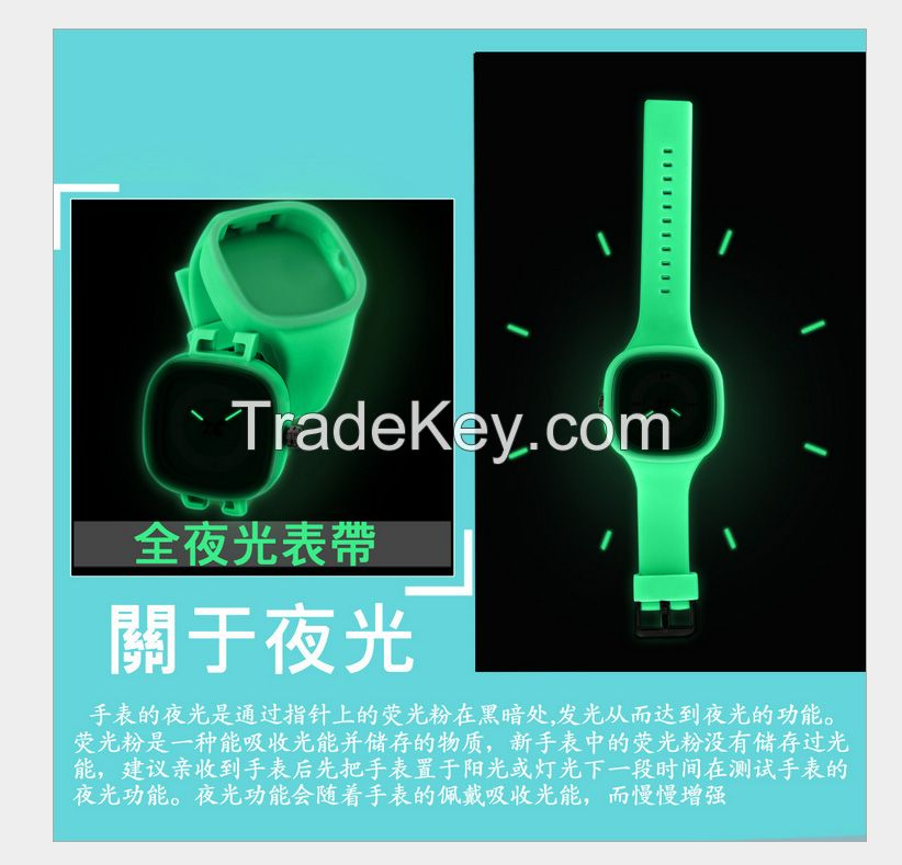 new wholesale luminous waterproof silicone watch