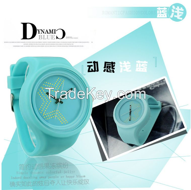 2016 Factory supplier newest luminous waterproof silicone wristwatch