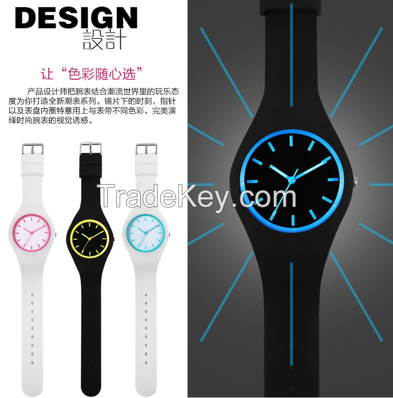 luminous silincone fashion cool design Electron Watch