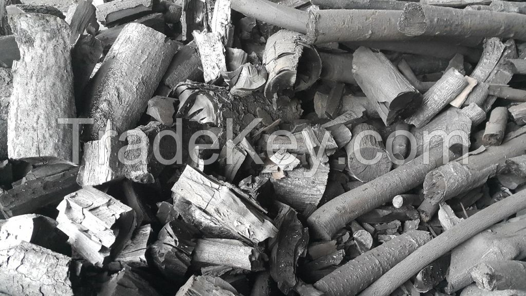 Organic charcoal from alder wood