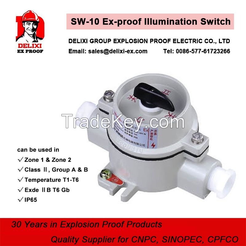 SW-10 explosion proof lighting and illumination Switch