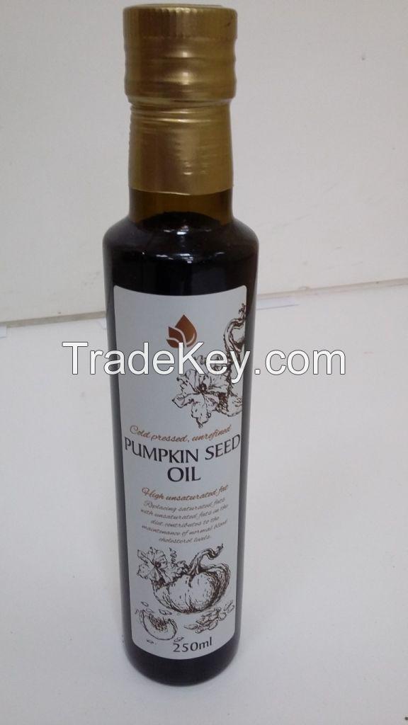 Pumpkin seed oil, cold pressed