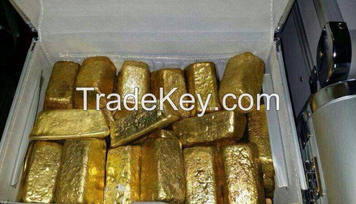 Original Congo Gold Dore Bars And Nuggets For Sale