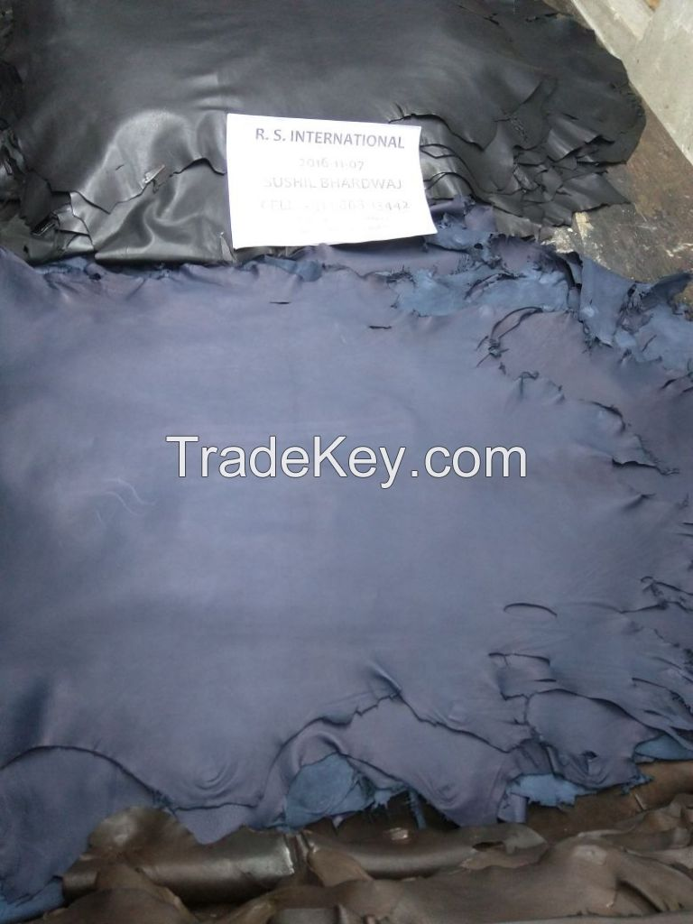 Processed cow leather