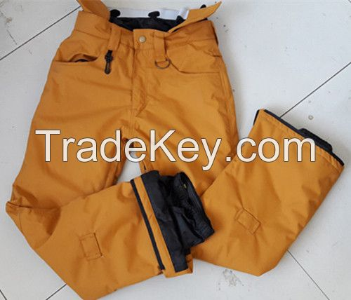 Mens outdoor cotton padded warm windproof ski snow pants