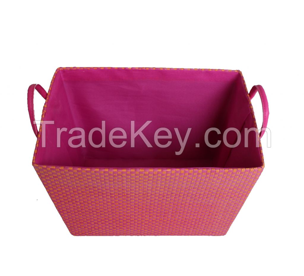 Non Woven Basket : Non woven double handle storage basket by shanghai fly