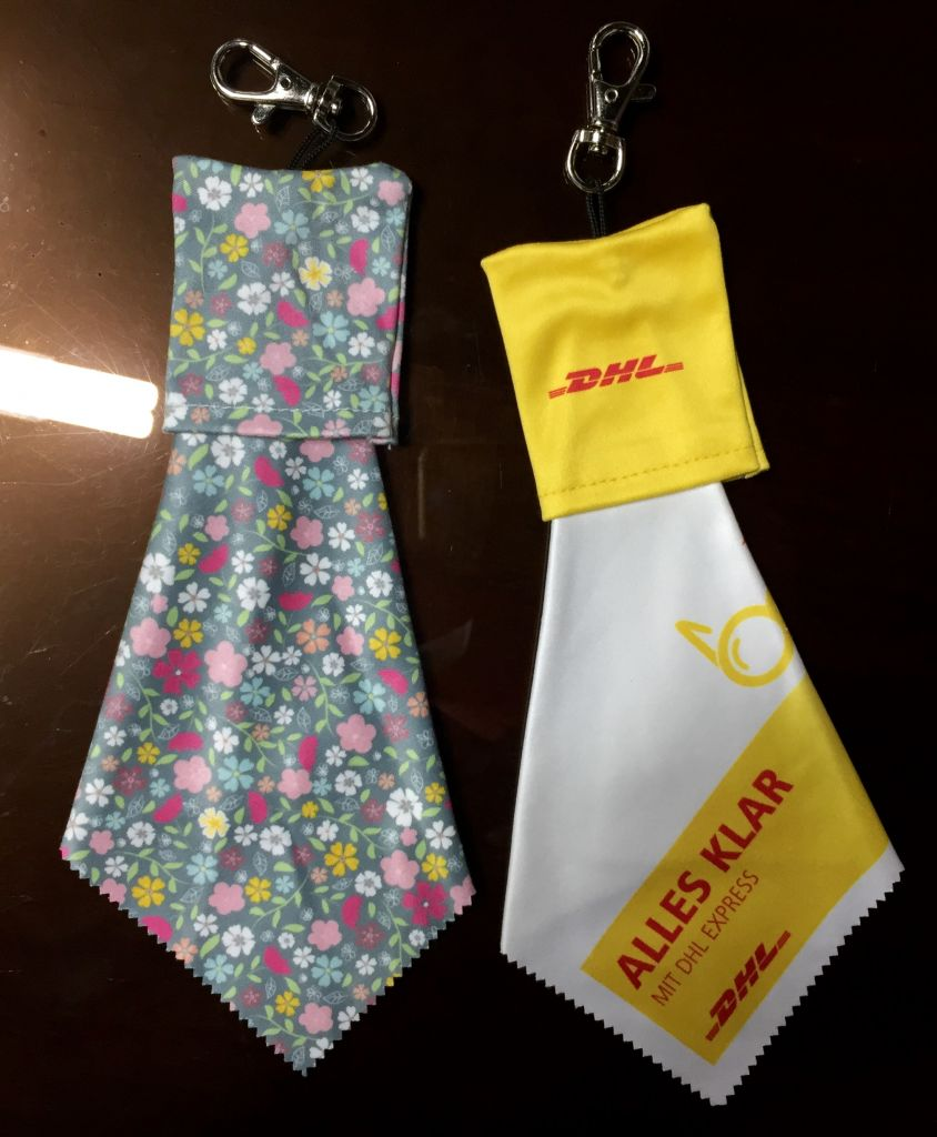 microfiber cleaning cloth - key chain type