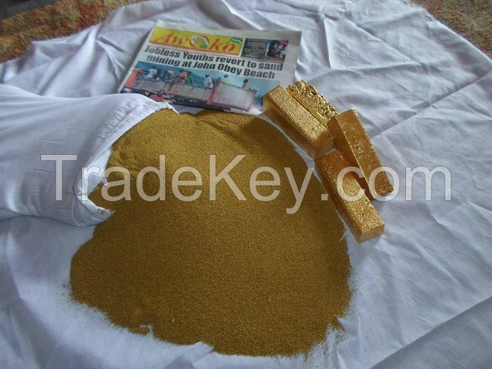 Gold Ingots, Gold Bars, Gold Bullion, Gold Powder, Gold Dust, Gold Nuggets