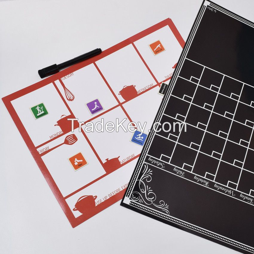 Dry Erase Calendar Magnetic : Custom dry erase magnetic monthly calendar by magtoon china