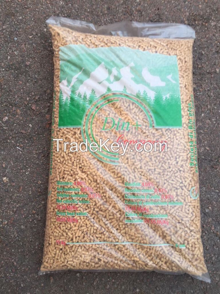 Wood Pellets Din+ Premium Quality