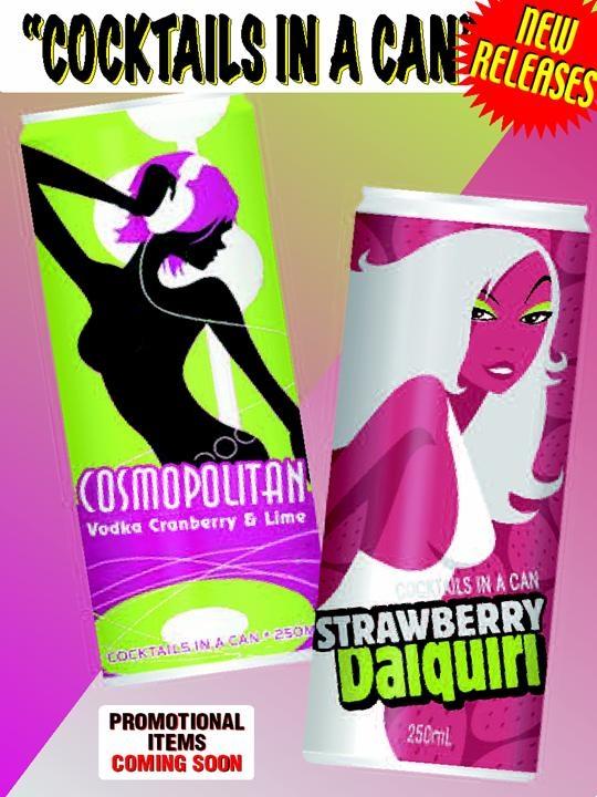 cosmopolitan & strawberry daiquiri