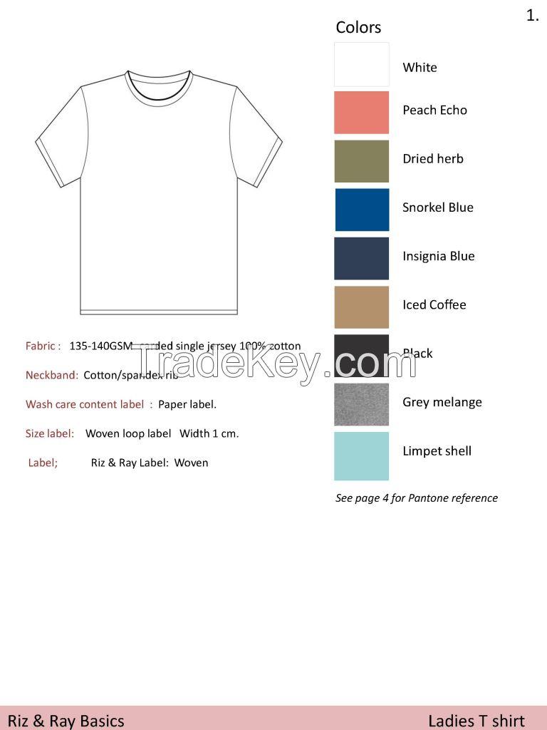 Ladies Blank T-Shirts