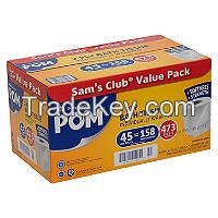 POM Bath Tissue, 2 Ply/473 Sheets (45 Rolls)