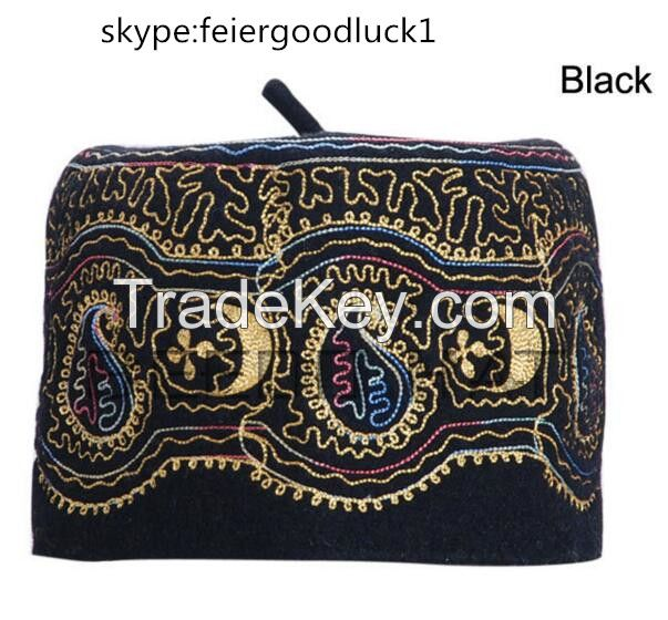 embroidery muslim prayer cap islamic hat /skype:feiergoodluck1