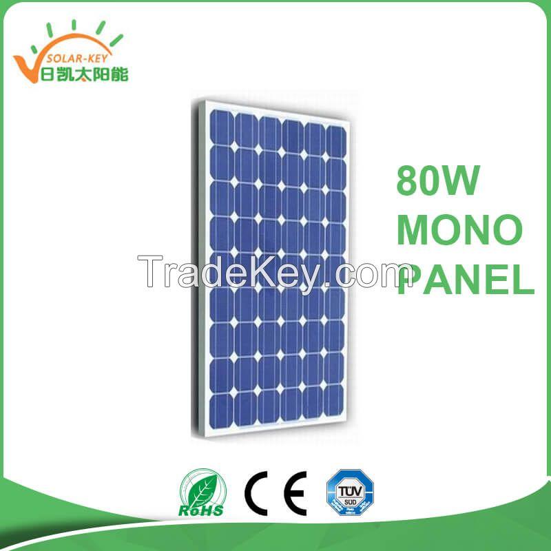Cheap price mono panle 70-90w solar panel in India marker