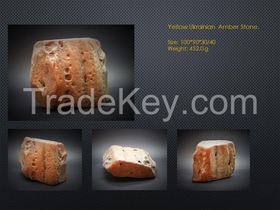 Raw amber stone